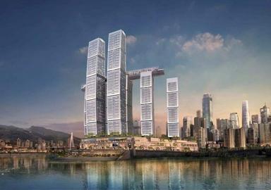 重庆来福士广场电力电缆安装案例
